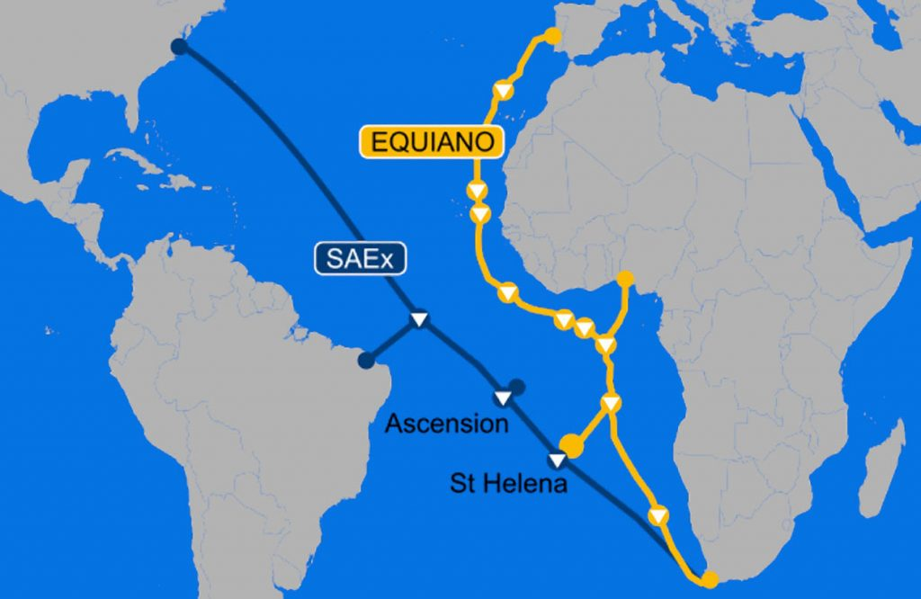 sub sea cable for St Helena